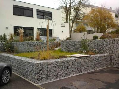 Gabions et enrochement fleurus pr s de charleroi profitez du travail de terracap for Grillage jardin avec pierre